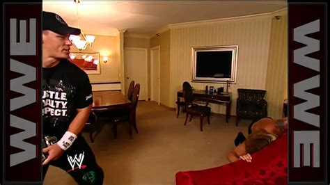john cena bedroom decor john cena attacks edge and surprises lita in a hotel room