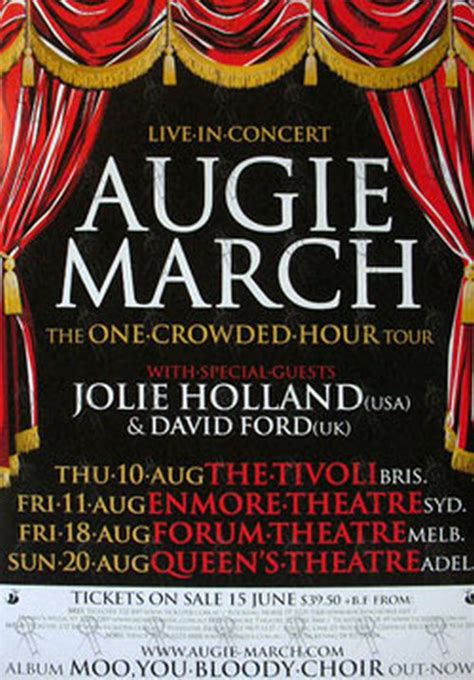 Augie March One Crowded Hour by Augie March One Crowded Hour 2006 Australian Tour