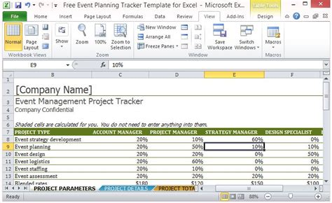 Free Event Planning Tracker Template For Excel Event Management Project Plan Template
