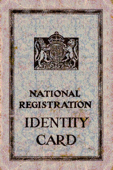 world war 2 identity card template national registration act 1939