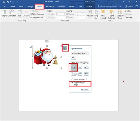 word layout options this festive season create cards using ms word