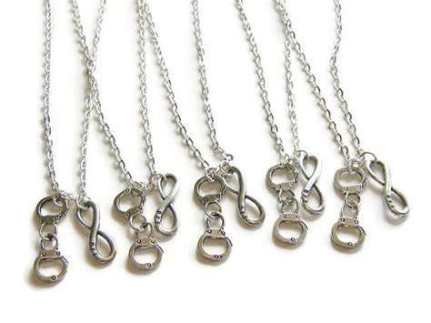 bff infinity necklaces 5 best friends necklaces bff infinity and handcuff necklace