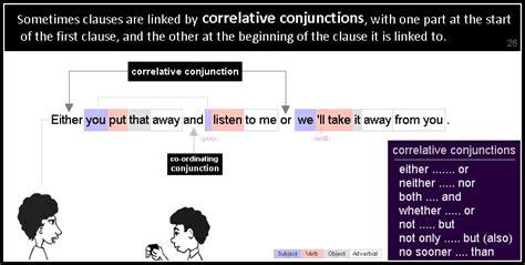 pattern of correlative conjunction conjunctions grammar patterns