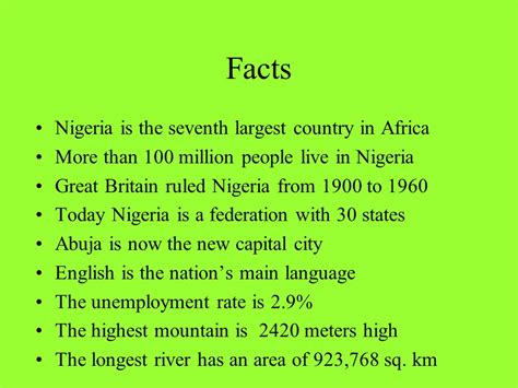 1960s fun facts nigeria ppt video online download