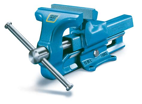 bench vise uses snap in jaws to hold delicate items