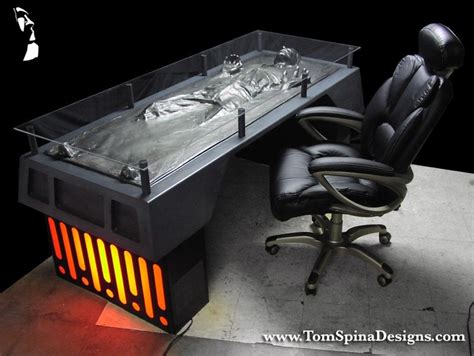 Unique Office Desk Ideas Wars Han Carbonite Desk Custom Furniture Tom Spina Designs 187 Tom Spina Designs