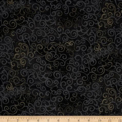 quilting treasures 108 quot wide quilt back ombre scroll black