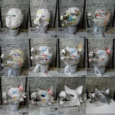 How To Make A Wolf Mask Out Of Paper - diy wolf mask just the pic series ideas