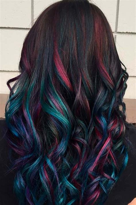 30 rainbow hair looks for brunettes rainbow hair