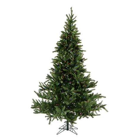 ge 9 ft pre lit led energy smart spruce artificial christmas tree ge 7 5 ft pre lit led energy smart just cut colorado spruce artificial tree with color choice