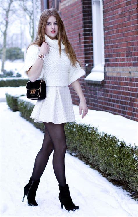 https www stylish white dress black stockings and black boots a fun