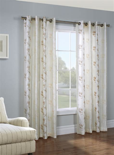 embroidered panel curtains josephina embroidered faux silk grommet panel