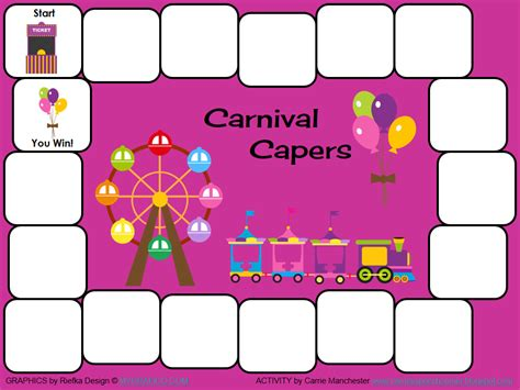 carnival punch card template carrie s speech corner august 2012