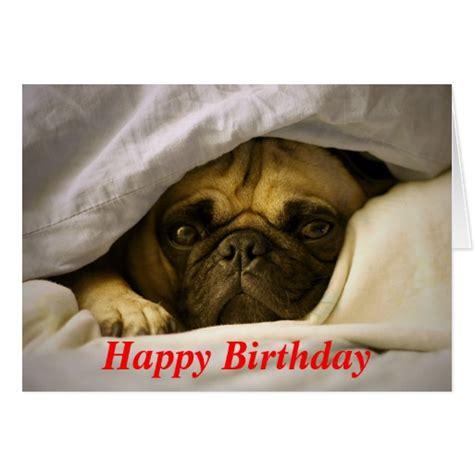 happy pug puppy happy birthday pug puppy greeting card zazzle