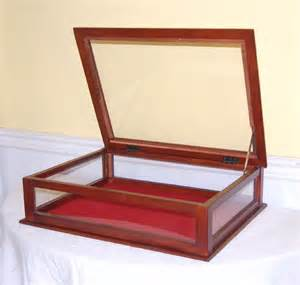 display case cabinet mahogany amp glass new table top ebay