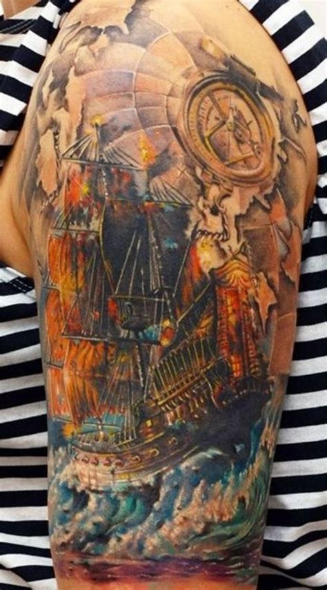 nautical sleeve tattoos 30 ship tattoos tattoofanblog