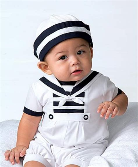 infant boy baby boy s sailor suit and matching hat from louise