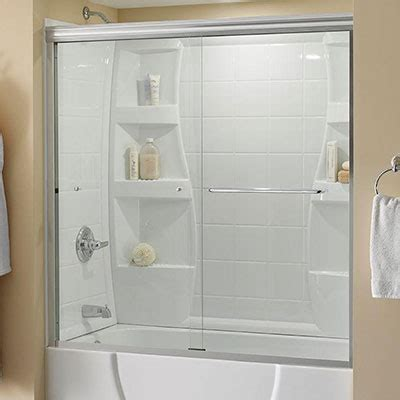 bathtub half glass panel bathtub doors bathtubs the home depot