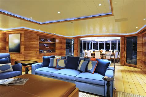 Rising Sun Yacht Interior by Top 10 Most Expensive Yachts In The World