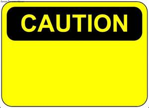 caution sign template sle templates