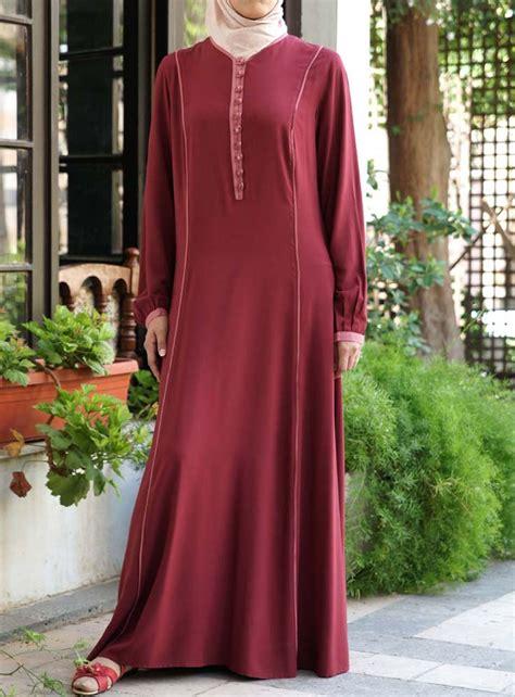Abaya Dress Kaftan Busana Muslimah Mf 47 bias trim rayon dress via www shukronline shukr islamic clothing