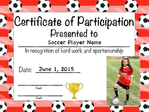 soccer certificate template free sle certificate of completion 25 documents in vector