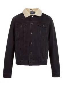 Black borg lined denim jacket online shopping women s fashion men s