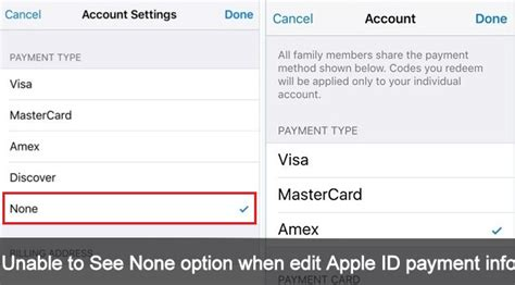 can you make a apple id without a credit card how to fix i can t see none option when edit apple id