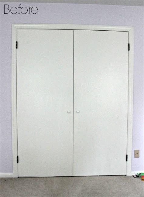 diy closet door update how to update your old bi fold upgrade the look of your flat doors with this simple diy
