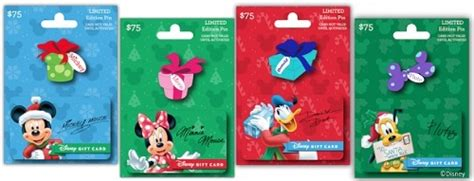 Where Are Disney Gift Cards Sold - holiday pin series gift cards come with disney trading pins