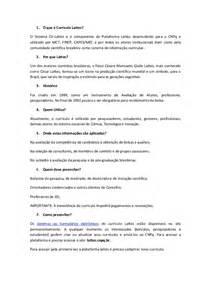 Curriculum Vitae Lattes by Curriculo Lattes Tutorial