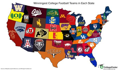 map of colleges in united states the national football league nfl and the national
