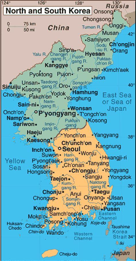 south korea city map maps of korea