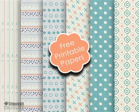 Free Craft Papers - free trimcraft printable papers and the craft