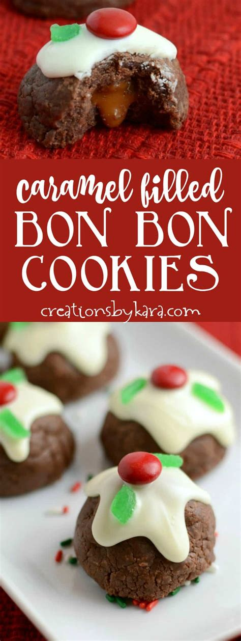 caramel filled bon bon cookies creations by kara