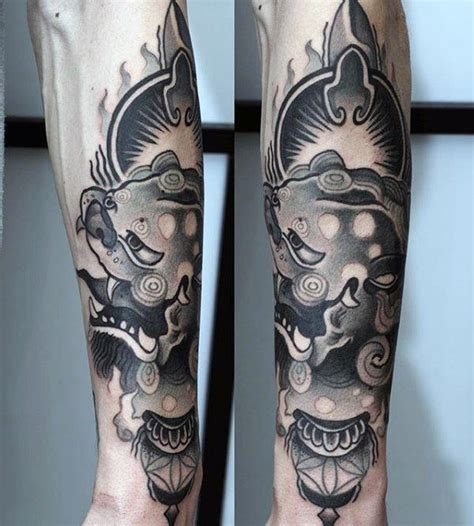 100 foo dog tattoo designs for men chinese gaurdian lions
