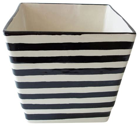 black and white planters ceramic square planter black and white contemporary outdoor pots and planters by emilia
