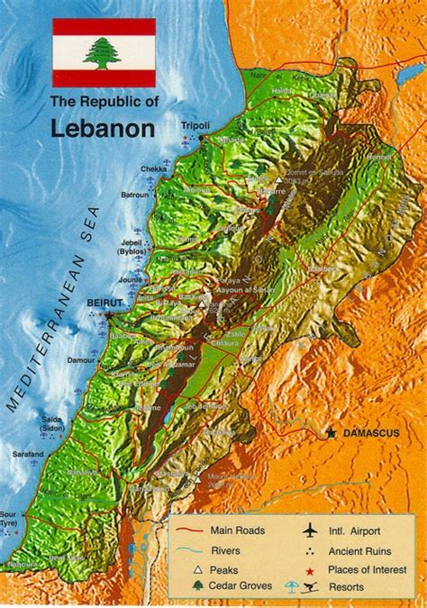 physical map of lebanon lebanon history and geography of lebanon