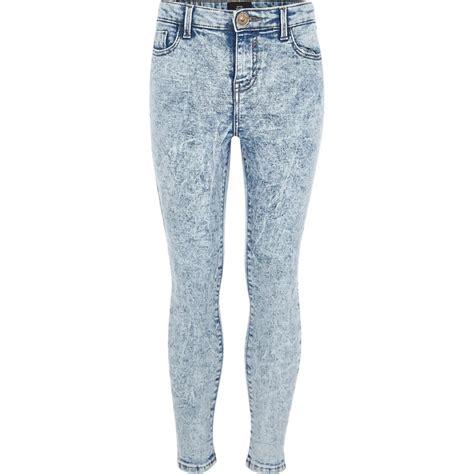 girls skinny jeans girls blue acid amelie super skinny jeans denim sale