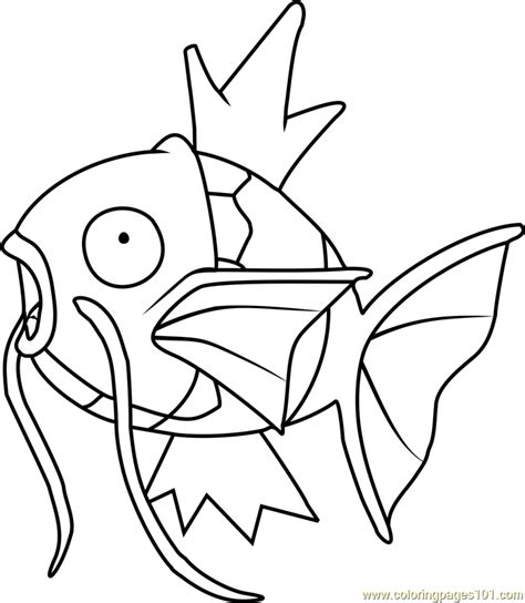 pokemon coloring pages magikarp magikarp pokemon coloring page free pok 233 mon coloring