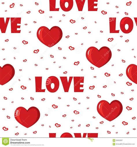 love pattern background vector cute background with love and hearts for valentine s day