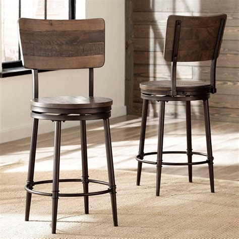 Bar Stools Swivel Metal by Hillsdale Metal Stools Swivel Bar Stool With Wood Backrest