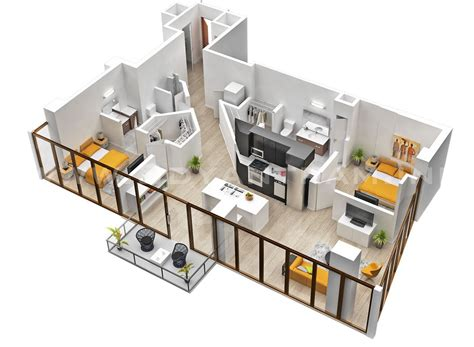 house plans with apartment 25 two bedroom house apartment floor plans