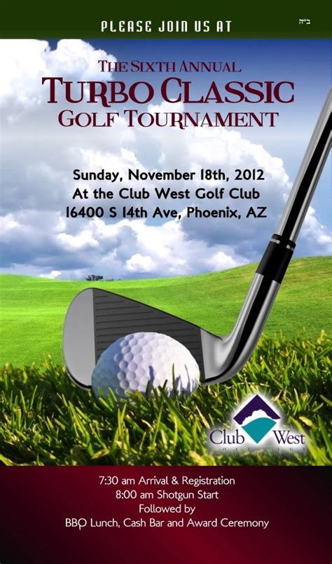Save The Date Golf Tournament 2012 Golf Tournament Save The Date Template