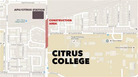 citrus college map update citrus avenue traffic advisory citrus college clarion