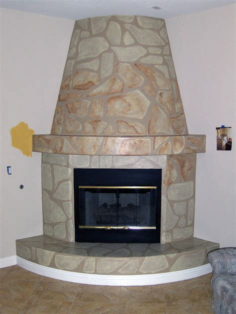 faux fireplace houseart custom painting