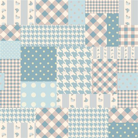 Blue Patchwork - blue patchwork of rectangles stock vector image 45701079