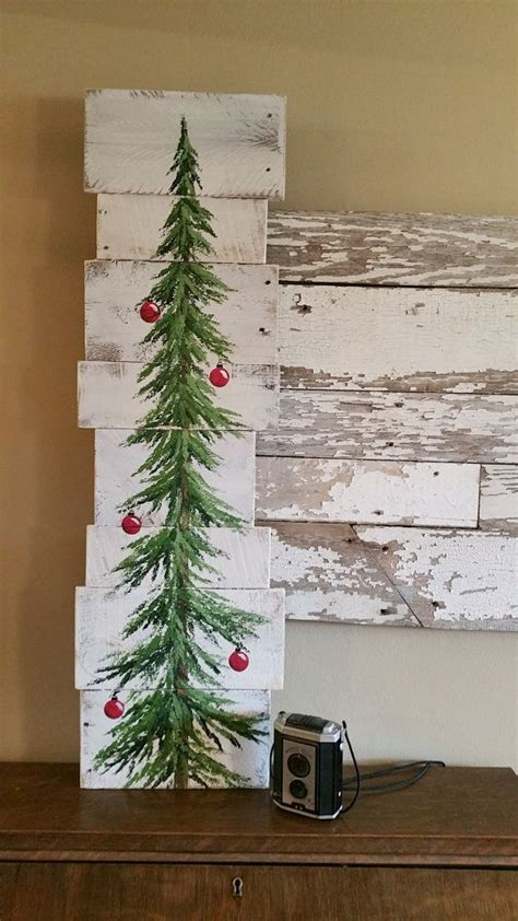 tree painted on wood ideas tree white washed bulbs pine by thewhitebirchstudio etsy the white birch