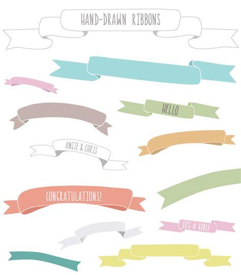 design banner cute cute ribbon vector clipart best