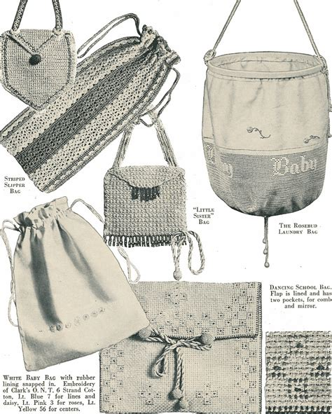 Pattren Bag Import vintage crochet pattern book clarks bags 100 designs totes